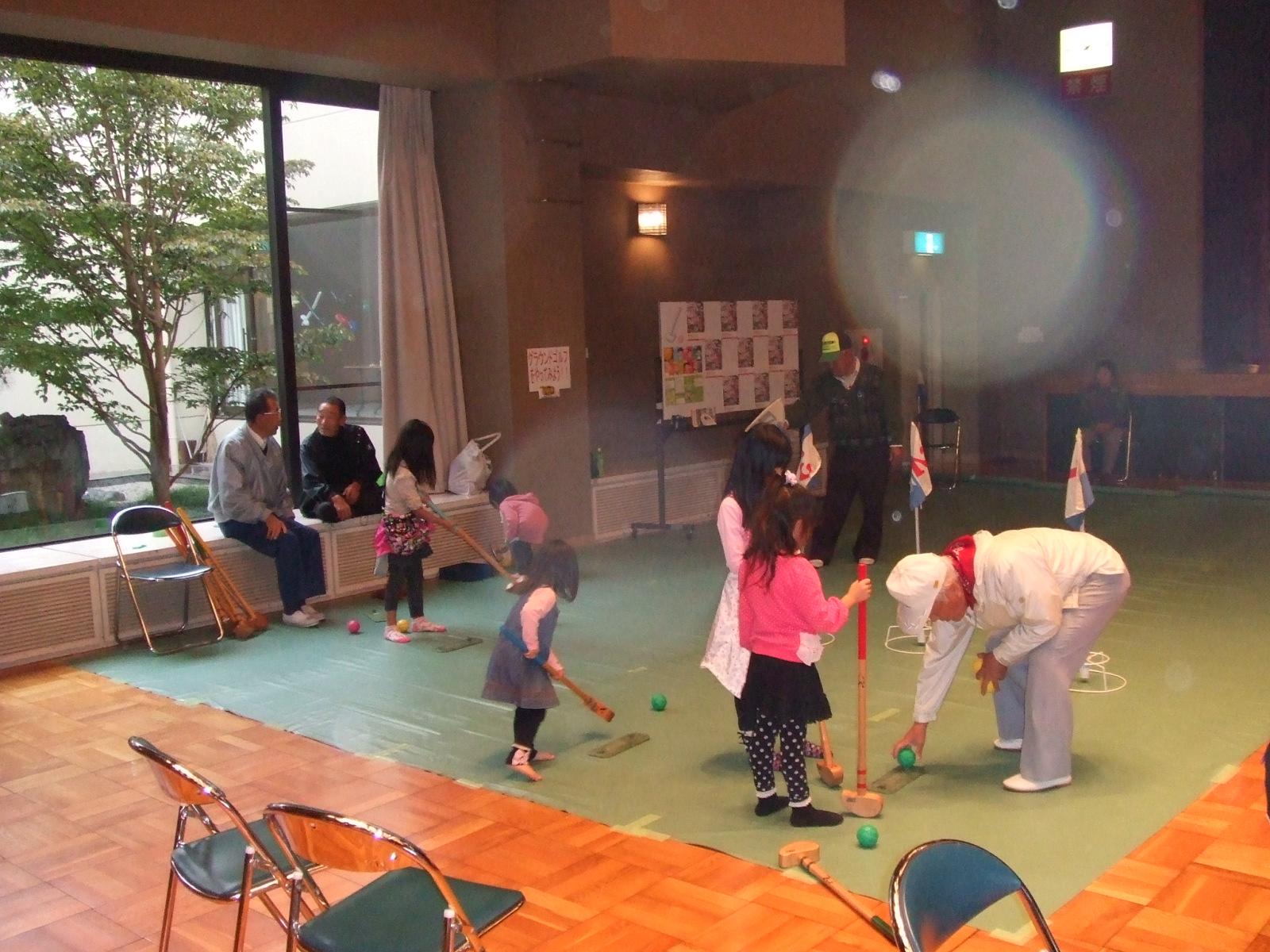 子どもフェスタ2012・グラウンドゴルフ2